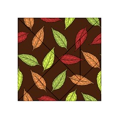 Autumn Leaves Pattern Acrylic Tangram Puzzle (4  X 4 ) by Mariart