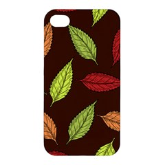 Autumn Leaves Pattern Apple Iphone 4/4s Premium Hardshell Case
