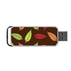 Autumn Leaves Pattern Portable Usb Flash (one Side)