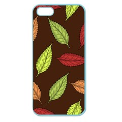 Autumn Leaves Pattern Apple Seamless Iphone 5 Case (color)