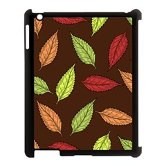 Autumn Leaves Pattern Apple Ipad 3/4 Case (black)