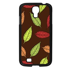 Autumn Leaves Pattern Samsung Galaxy S4 I9500/ I9505 Case (black) by Mariart
