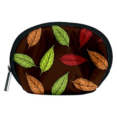 Autumn Leaves Pattern Accessory Pouches (medium)  by Mariart