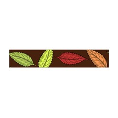 Autumn Leaves Pattern Flano Scarf (mini) by Mariart