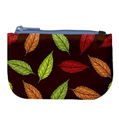 Autumn Leaves Pattern Large Coin Purse by Mariart