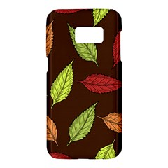 Autumn Leaves Pattern Samsung Galaxy S7 Hardshell Case  by Mariart