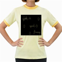 Feedback Loops Motion Graphics Piece Women s Fitted Ringer T Shirts