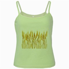 Wheat Plants Green Spaghetti Tank by Mariart