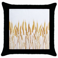 Wheat Plants Throw Pillow Case (black) by Mariart