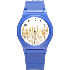 Wheat Plants Round Plastic Sport Watch (s) by Mariart