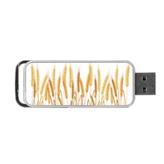 Wheat Plants Portable Usb Flash (two Sides) by Mariart