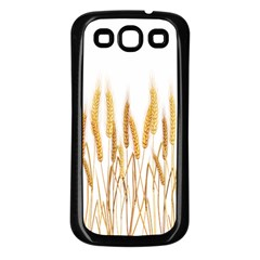 Wheat Plants Samsung Galaxy S3 Back Case (black) by Mariart