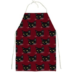 Face Cat Animals Red Full Print Aprons