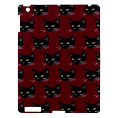 Face Cat Animals Red Apple Ipad 3/4 Hardshell Case by Mariart