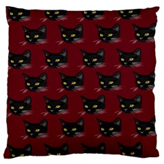 Face Cat Animals Red Large Cushion Case (two Sides) by Mariart