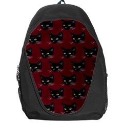 Face Cat Animals Red Backpack Bag
