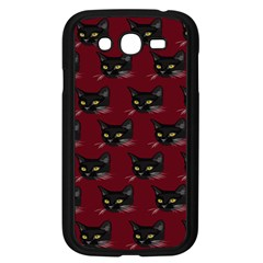 Face Cat Animals Red Samsung Galaxy Grand Duos I9082 Case (black)