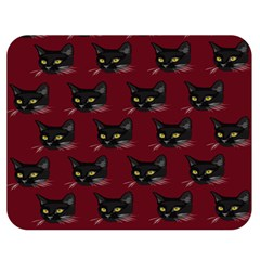 Face Cat Animals Red Double Sided Flano Blanket (medium)  by Mariart