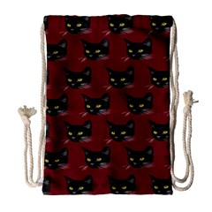 Face Cat Animals Red Drawstring Bag (large) by Mariart
