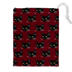 Face Cat Animals Red Drawstring Pouches (xxl) by Mariart