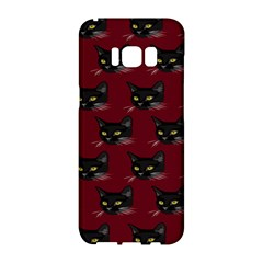 Face Cat Animals Red Samsung Galaxy S8 Hardshell Case