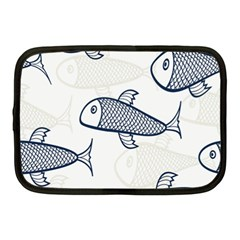 Fish Graphic Flooring Blue Seaworld Swim Water Netbook Case (medium)  by Mariart