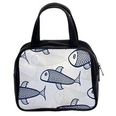 Fish Graphic Flooring Blue Seaworld Swim Water Classic Handbags (2 Sides) by Mariart
