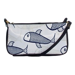 Fish Graphic Flooring Blue Seaworld Swim Water Shoulder Clutch Bags by Mariart