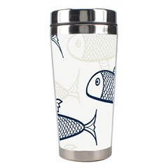 Fish Graphic Flooring Blue Seaworld Swim Water Stainless Steel Travel Tumblers by Mariart