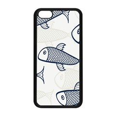 Fish Graphic Flooring Blue Seaworld Swim Water Apple Iphone 5c Seamless Case (black) by Mariart