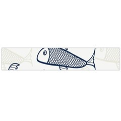 Fish Graphic Flooring Blue Seaworld Swim Water Large Flano Scarf  by Mariart