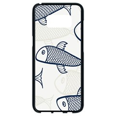 Fish Graphic Flooring Blue Seaworld Swim Water Samsung Galaxy S8 Black Seamless Case by Mariart
