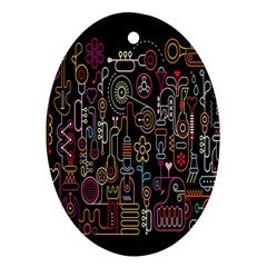Features Illustration Ornament (oval) by Mariart