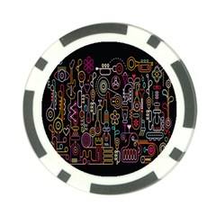 Features Illustration Poker Chip Card Guard by Mariart
