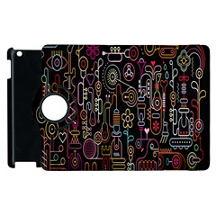 Features Illustration Apple Ipad 3/4 Flip 360 Case by Mariart