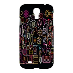 Features Illustration Samsung Galaxy S4 I9500/i9505 Hardshell Case by Mariart