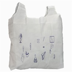 Formulas Laboratories Formulas Mathematics Chemistry Blue Recycle Bag (two Side)  by Mariart