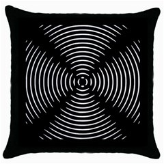 Gold Wave Seamless Pattern Black Hole Throw Pillow Case (black) by Mariart