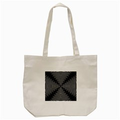 Gold Wave Seamless Pattern Black Hole Tote Bag (cream)