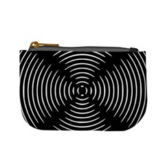 Gold Wave Seamless Pattern Black Hole Mini Coin Purses