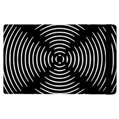 Gold Wave Seamless Pattern Black Hole Apple Ipad 2 Flip Case by Mariart