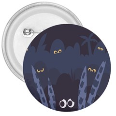 Ghost Halloween Eye Night Sinister 3  Buttons