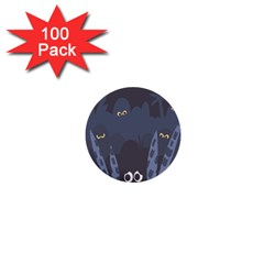Ghost Halloween Eye Night Sinister 1  Mini Buttons (100 Pack)  by Mariart