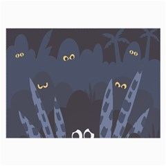 Ghost Halloween Eye Night Sinister Large Glasses Cloth (2 Side) by Mariart