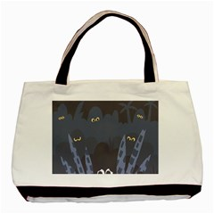 Ghost Halloween Eye Night Sinister Basic Tote Bag (two Sides) by Mariart