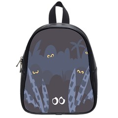 Ghost Halloween Eye Night Sinister School Bag (small) by Mariart
