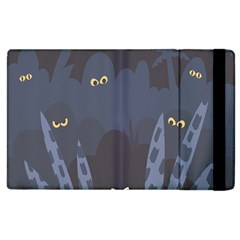 Ghost Halloween Eye Night Sinister Apple Ipad 3/4 Flip Case by Mariart