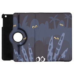 Ghost Halloween Eye Night Sinister Apple Ipad Mini Flip 360 Case by Mariart