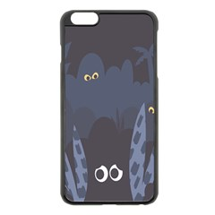 Ghost Halloween Eye Night Sinister Apple Iphone 6 Plus/6s Plus Black Enamel Case by Mariart
