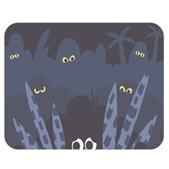 Ghost Halloween Eye Night Sinister Double Sided Flano Blanket (medium)